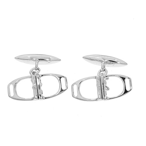 Double-Stirrups-Cufflinks-in-sterling-silver