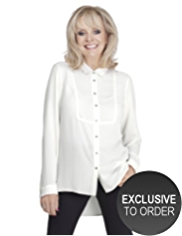 Twiggy for M&S Collection Bib Front Oblong Shirt