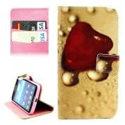 Heart Pattern Horizontal Flip Leather Case with Holder Card Slots Wallet for Samsung Galaxy Grand 2 / G7106
