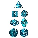 Chessex Polyhedral 7-Die Translucent Dice Set - Teal