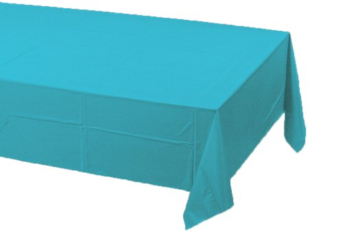 Creative Converting Paper Banquet Table Cover, Bermuda Blue