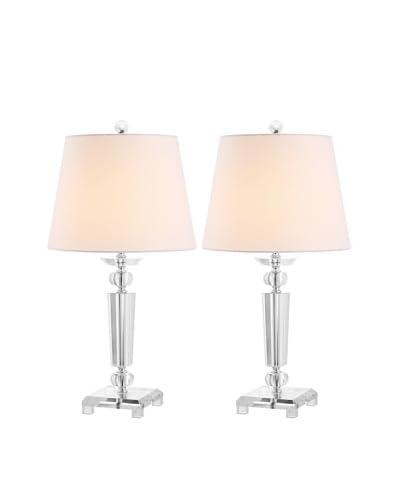 Safavieh Set of 2 Imogene Crystal Table Lamps, Silver