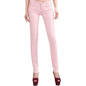Hee Grand Femme Jeans Slim Chinois S Pink