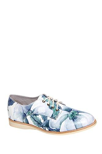 Derby Flower Low Heel Oxford