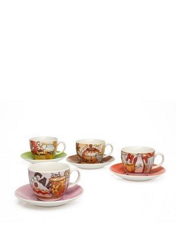 Tognana Iris Breakfast Confezione 4 Tazze Cappuccino Con Piattino