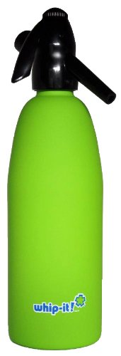 Whip-It 1-Liter Soda Siphon, Rubber Coated, Lime (Soda Siphon Cartridge Holder compare prices)