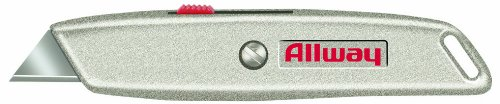 Allway Tools Retractable Utility Knife with 3 Blades and Delrin Slider