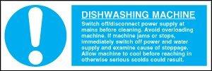 Hygine-alimentaire-Panneau-de-consignes-de-scurit-pour-Machine--laver-la-vaisselle-auto-adhsif-300-x-100-mm