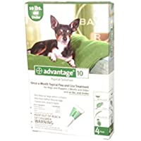 Advantage Dogs & Puppies 1-10LBS 4 Month Supply