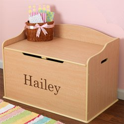 Personalized Austin Toy Box- Natural