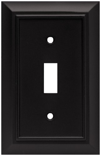 Brainerd 64219 Architectural Single Switch Wall Plate / Switch Plate / Cover, Flat Black