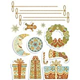 Purlees Christmas PREMIUM LARGE Christmas window display decorative stickers Paisley Design Packby Purlees