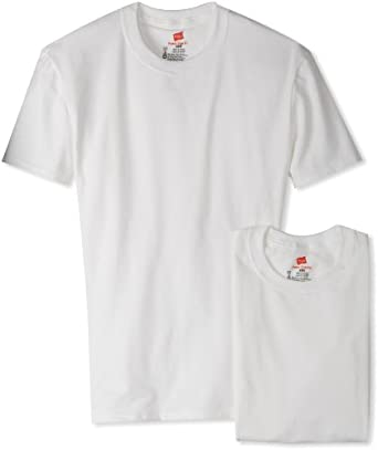 542def289a48 Hanes Men's Classics Comfortable 2 Pack Power Slim Crew Neck T-Shirt