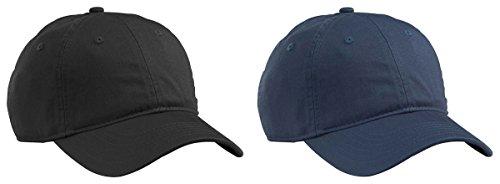 Econscious Men's Organic Cotton Twill Baseball Hats Set_BLACK & PACIFIC_OS