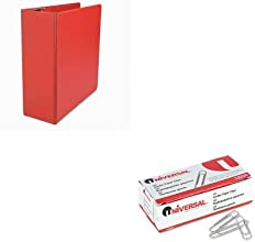 KITUNV20708UNV72220 - Value Kit - Universal D-Ring Binder UNV20708 and Universal Smooth Paper Clips
