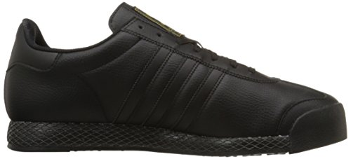 Adidas Originals Men's Samoa Retro Sneaker,Black/Black/Gold,8 M US