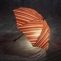 Liquid Series Lighted Umbrella (Red/Orange)