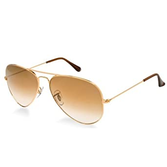 SWG Eyewear Metal Classic Aviator Sunglasses in Gold/Brown