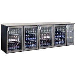 "108"" Glass Door Back Bar Cooler - Glastender Bb108-R1-Xsh(Rlrl)"