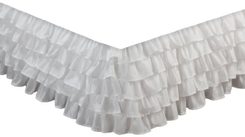 White Ruffled Bedskirt