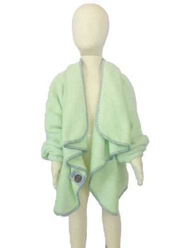 Cuddly Children's Wearable Blanket with Sleeves (Sm/Med (Age 1-3 / 20-40 lbs), Sage Dot)