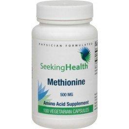 Methionine | Best L-Methionine Amino Acid Nutritional Supplement 500 mg | 100 Easy-To-Swallow Vegetarian Capsules | Seeking Health