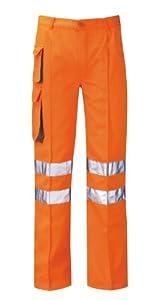Hercules Pcrtctr Zesus Combat Rail Size 48 Work Trousers Reg Leg - Orange
