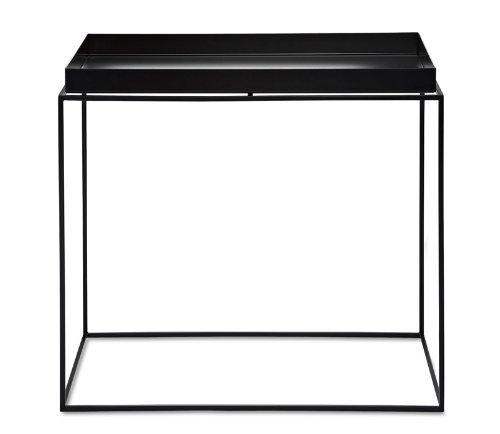 Hay - Hay dk tray table medium negro mesa bandeja mesa medio negro polvorevestido metal mesa mesa de centro