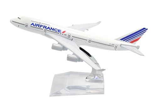 TANG DYNASTY(TM) 1:400 16cm B747-400 Air France Metal Airplane Model Plane Toy Plane Model (Air France Model compare prices)