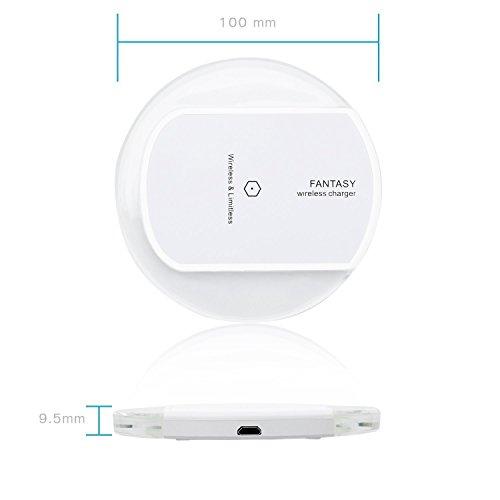 Caricabatterie-Wireless-Pad-Caricatore-Qi-Wireless-a-Rotondo-per-Amsung-S6-S6-Edge-Nexus-4-5-6-7-2013-Nokia-Lumia-920-LG-Optimus-Vu2-HTC-Droid-DNA-e-Tutti-i-dispositivi-Qi-Enabled-Senza-batteria-ester