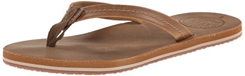 Reef Women's Chill Leather Flip Flop, Tobacco, 6 M US