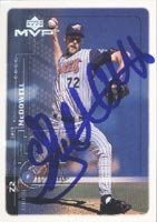 Jack McDowell Anaheim Angels 1999 Upper Deck MVP Autographed Hand Signed Trading... by Hall of Fame Memorabilia