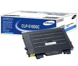 SAMSUNG CLP510D5C Laser toner cartridge for samsung clp-510, 510n, high-yield, cyan