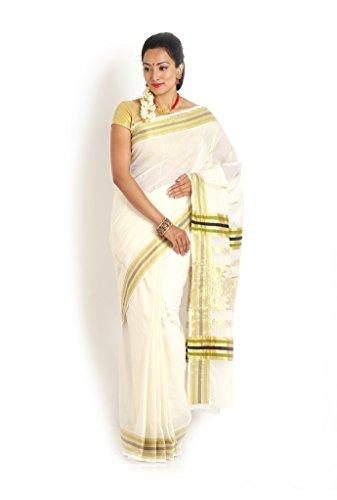 ENNTHRA Cotton Kasavu Sarees -EN 3485