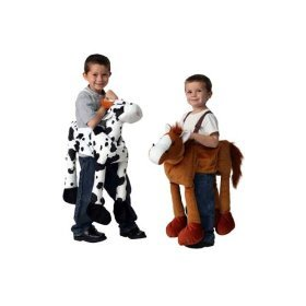 Plush Ride-On Farm Set - Horse and Cow