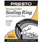 Presto Pressure Cooker Sealing Ring/Overpressure Plug Pack (Super 6 & 8 Quart)