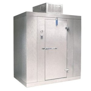 "Lft. Hinged Door Nor-Lake Walk-In Freezer 4' x 6' x 7' 7"" Outdoor"