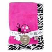 Pink Zebra Baby Blanket front-170279