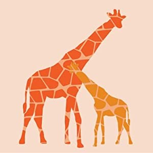Reticulated Giraffe 12x12 Canvas in Assorted Colors