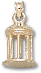 North Carolina Tar Heels 3-D Old Well Pendant - 14KT Gold Jewelry by Logo Art