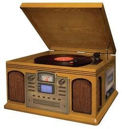 Crosley Director CD Recorder Oak