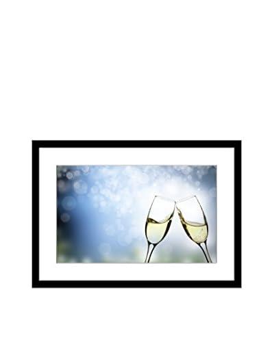 """""""Champagne Glasses"""" Framed Artwork On Paper"""