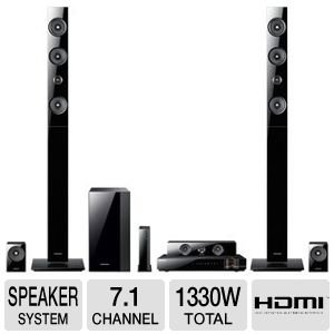 Samsung 7.1 Channel 3D Blu-ray Home Theater System,