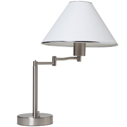 Boston HARBOR Swing Arm Adjustable Table Lamp, Brushed Nickel image