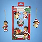 Nickelodeon Dora the Explorer Set of 5 Miniature Christmas Ornaments Holiday Kurt Adler