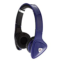 Universal 3.5mm Audio-professional Over-ear Stereo Headset (120cm,Assorted Colors,MFi certificate) --- COLOR:Blue