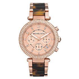 Michael Kors Women'S Mk5538 Parker Tortoise & Rose Gold-Tone Watch front-1050755