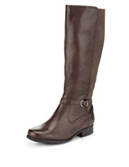 Footglove™ Panelled Wide Fit Riding Long Boots with Stretch Zip