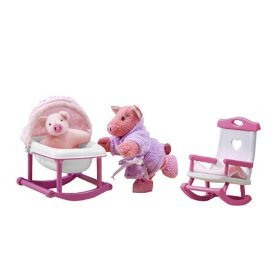 Only Hearts Club So Small Pets Rocking Chair And Cradle Set - Rock-a-bye Piggy by Only Hearts Club