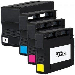 4 Colour Direct Tintenpatronen ersetzen HP 932XL & 933XL Kompatibel für HP OfficeJet 6100, 6600, 6700. CN053AE, CN054AE, CN055AE, CN056AE